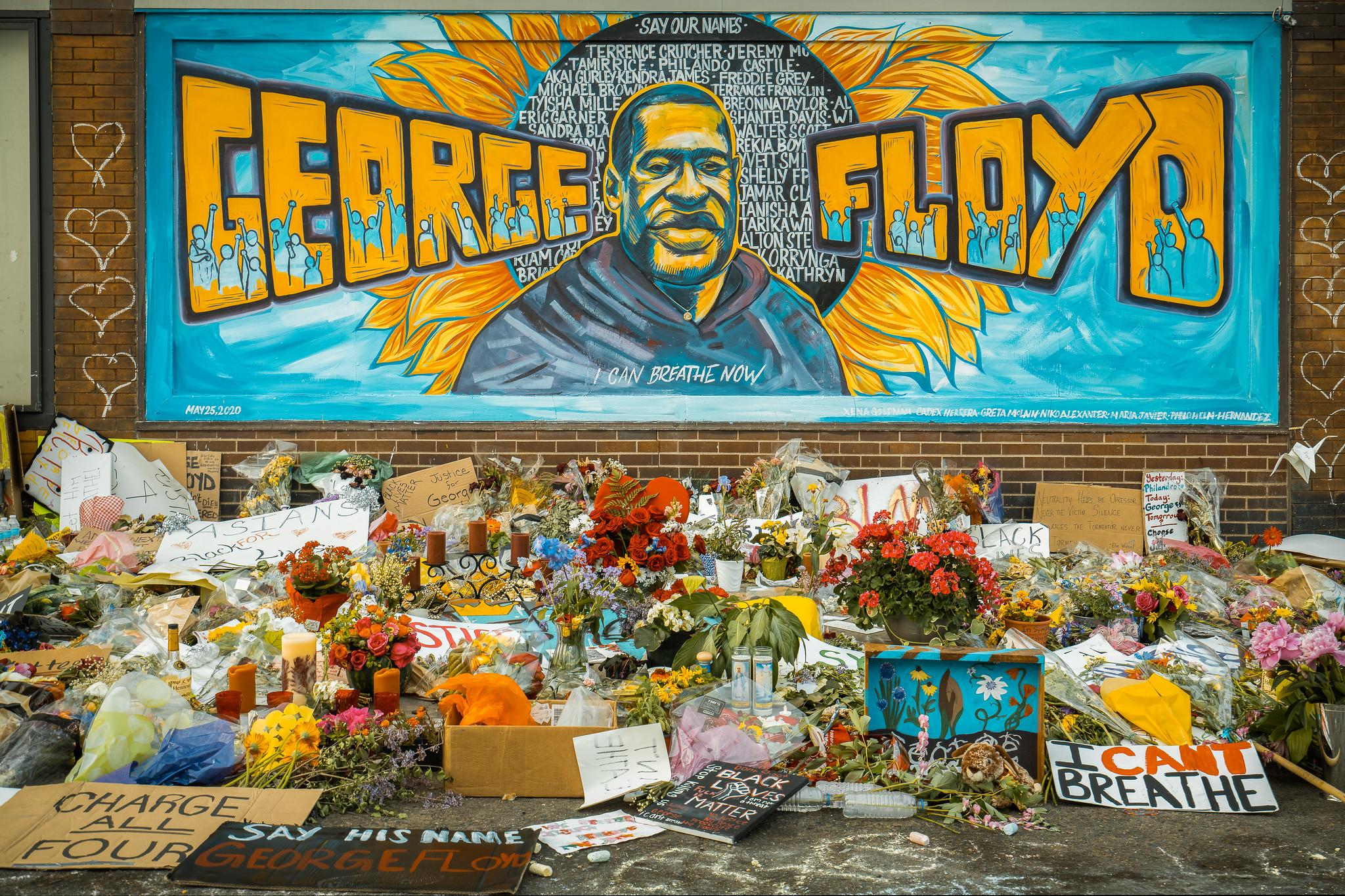 George floyd murale