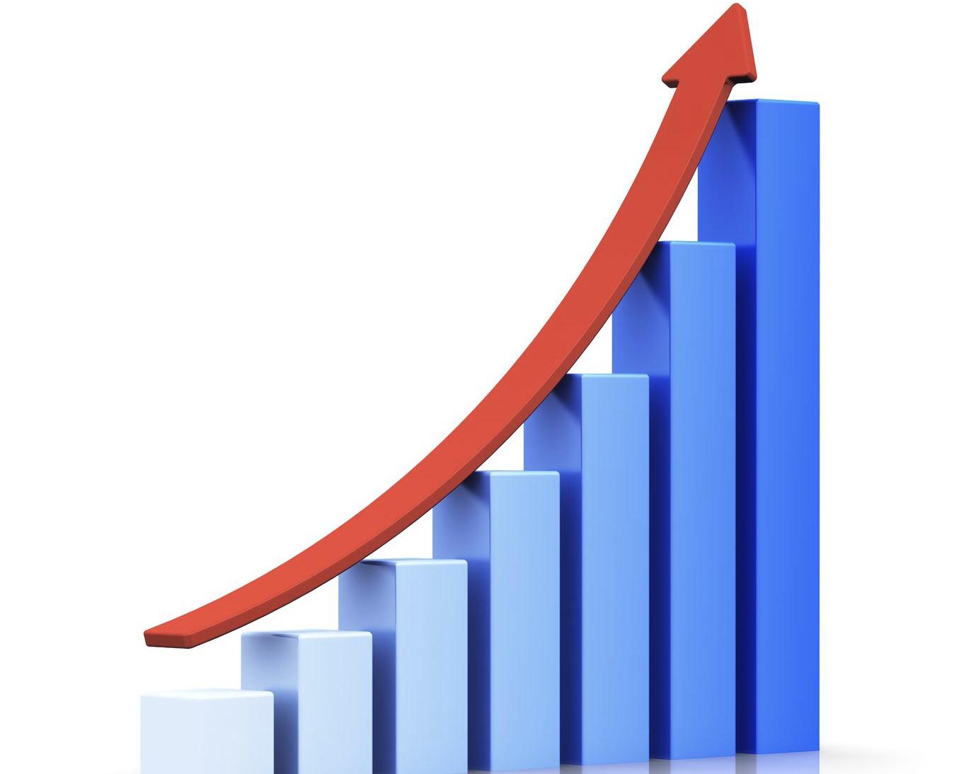 Trend in ascesa grafico