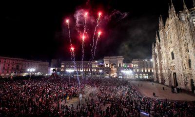 Piazza duomo Milano finale euro 2020