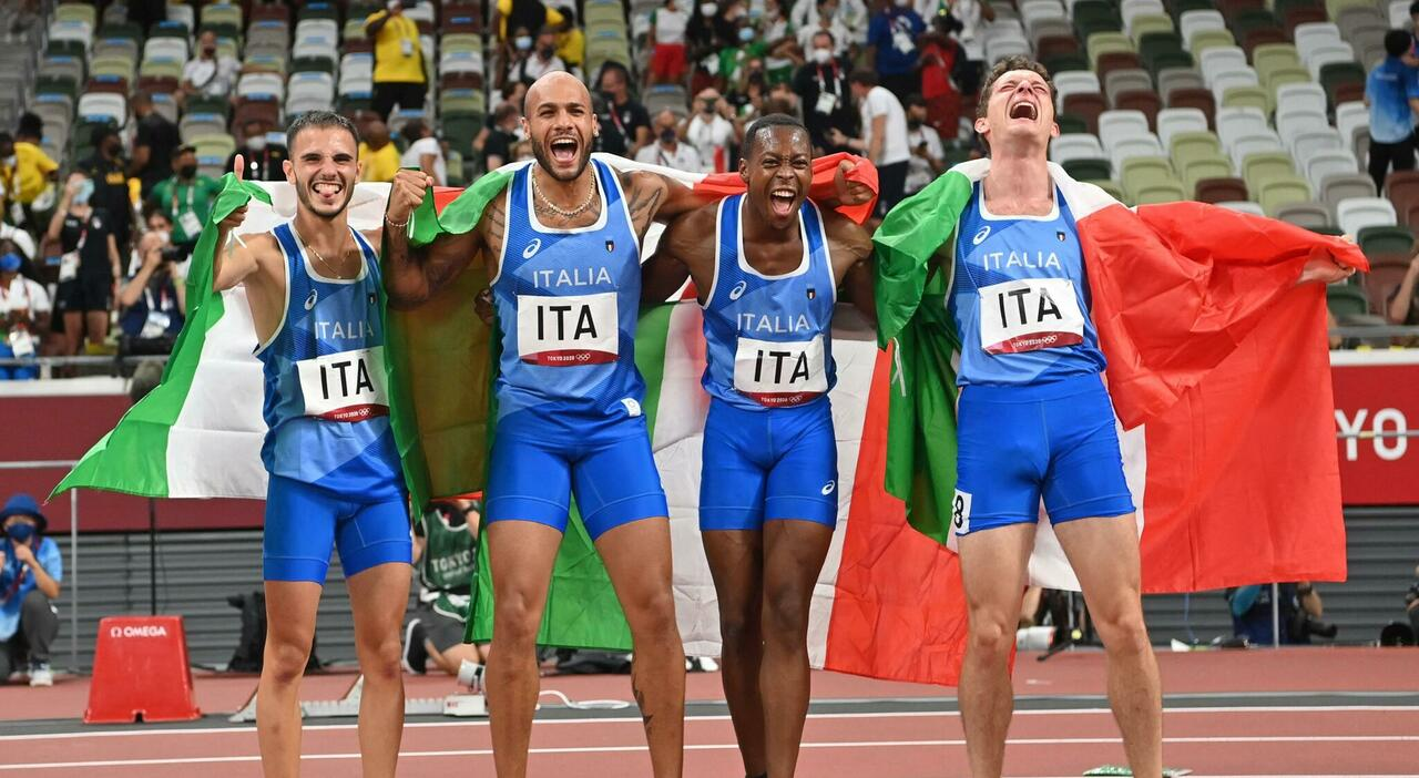Staffetta 4x100 oro italia