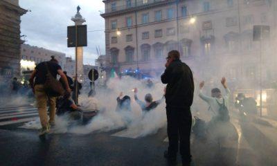 scontri no green pass roma